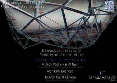 Introduction Lecture of RECODING I WORKSHOP _ Parametric Design & Digital Fabrication_Damascus University